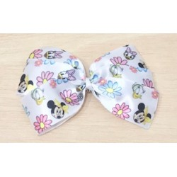LAZO BLANCO MINNIE MOUSE Y DEISY SATINADO SPRING