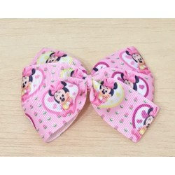 LAZO ROSA BEBE MINNIE MOUSE BABY FLORES